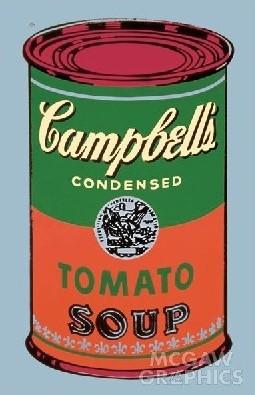 【アートポスター】キャンベルスープ缶 1965年(緑と赤)(508x762mm) -ウォーホル-