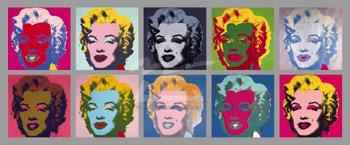 Ten Marilyns, 1967【560×1340mm】 ウォーホル