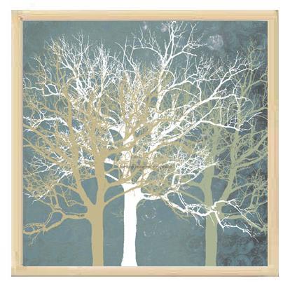 【エリン・クラーク額装ポスター】穏やかな木々(450×450×13mm)