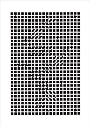 1955【シルクスクリーン】700×1000mm ヴァサレリ:Tlinko,