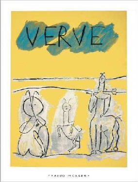 Cover for Verve, 1951【シルクスクリーン】60×80cm -ピカソ-