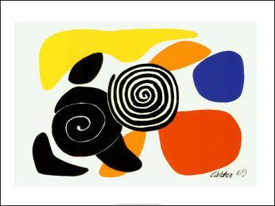 -カルダー- 【アートポスター】渦巻きと花びら1969年(シルクスクリーン)600×800mm