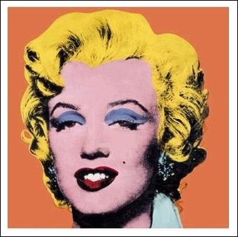 【アートポスター】マリリン(オレンジ)【970×970mm】 -ウォーホル-