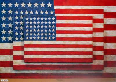 Flags, 【ジャスパー・ジョーンズ】Three 1958(654×940mm)