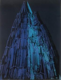 ケルン大聖堂1985年(青)【700×900mm】 -ウォーホル-