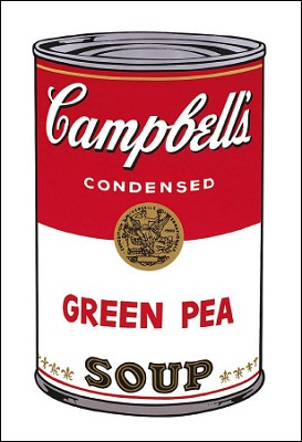 【アートポスター】Campbell's Soup I: Green Pea, 1968(560×812mm) -ウォーホル-