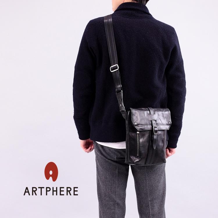 ARTPHERE アートフィアー クリスマス ギフト ショルダーバッグ 斜めがけバッグ 豊岡鞄 本革メンズ レディース 本革 牛革 豊岡かばん B5サイズ対応 タブレット収納 ipadAir2対応 黒/オレンジ/キャメル 夏 バッグ