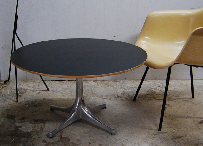 George Nelson Pedestal Table Herman Miller `50 George Nelson Eames Herman  Mirror