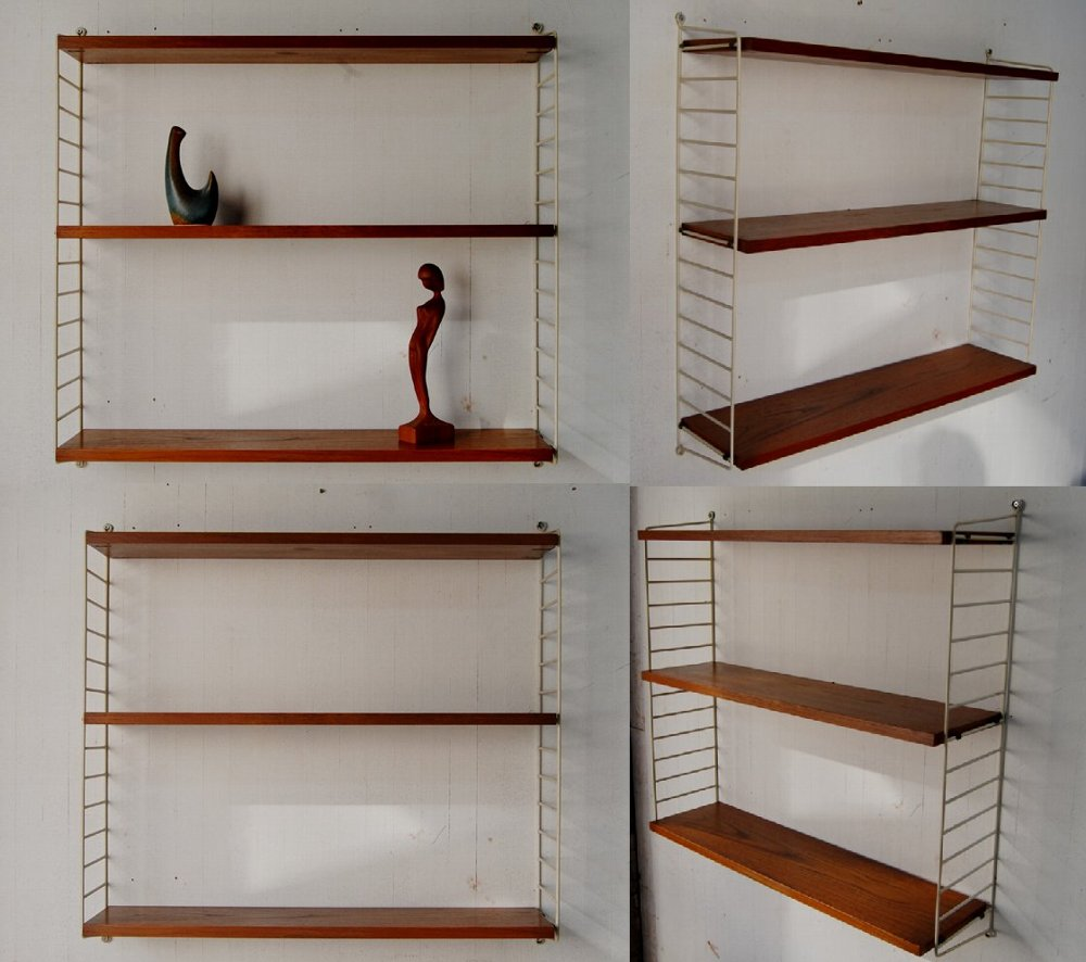 Sweden string wall shelf white/teak 현악기 북유럽 스웨덴 그리고 또 판 구조론