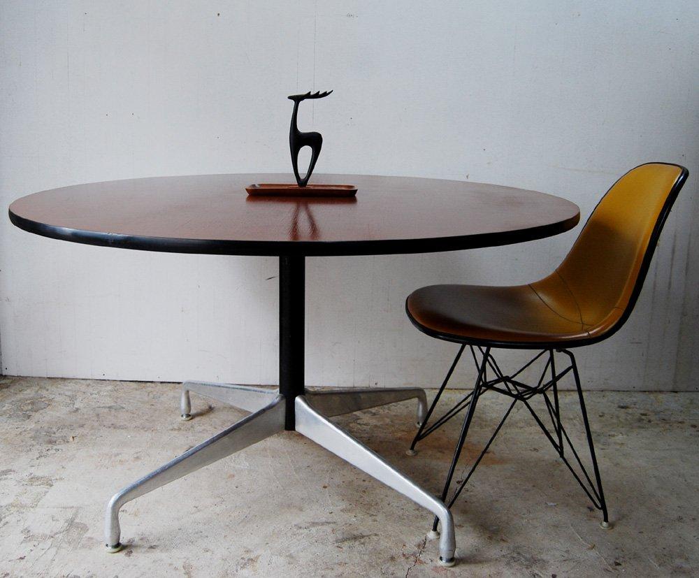 Charles Ray Eames Segmentedbase Table Teak Herman Miller Mirror