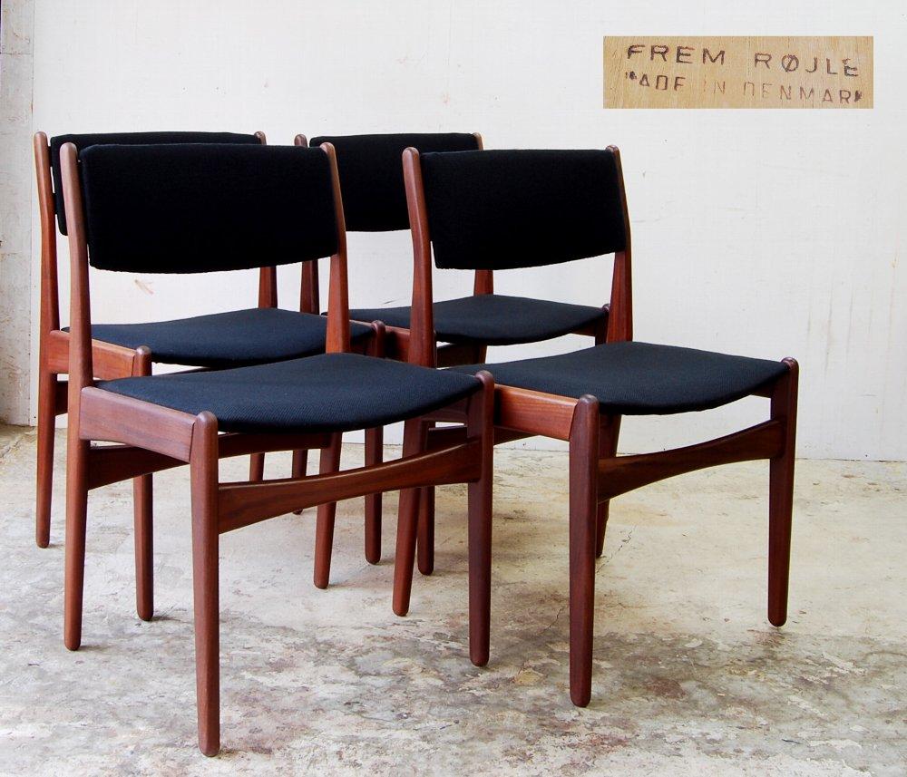 Poul M Volther Dining Chair Frem Rojle 4 Leg Set Nordic Denmark