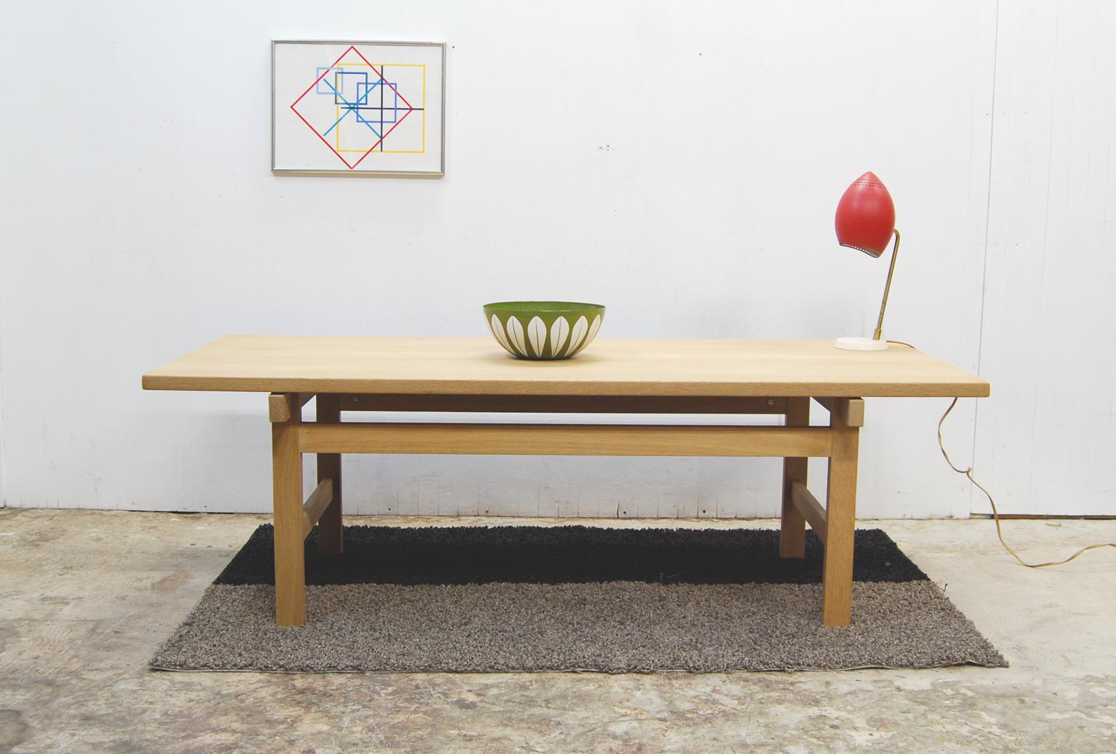 Wegner Andr Tuck Center Table Oak Nordic Furniture Denmark Hans J Wegner