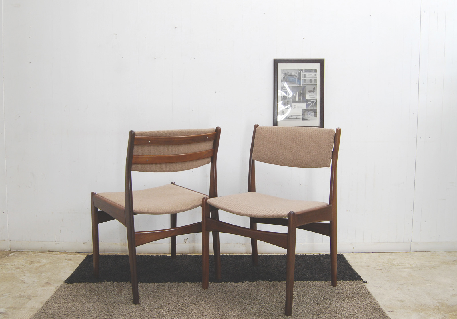 Poul M Volther dining chair Frem Rojle2脚セット 北欧 デンマーク
