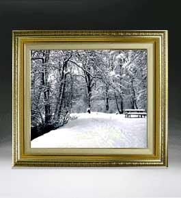 樹氷 F8サイズ 【油絵 直筆仕上げ絵画】【額縁付】 油彩 風景画 オリジナルインテリア絵画 風水画 598×524mm 送料無料