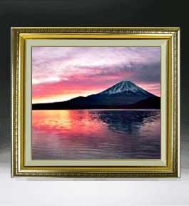 富士山 (2)  F10サイズ 【油絵 直筆仕上げ絵画】【額縁付】 油彩 風景画 オリジナルインテリア絵画 風水画 673×599mm 送料無料