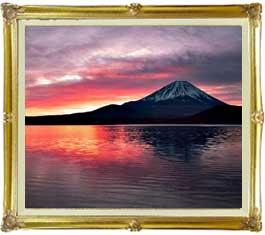 富士山 (2)  F20サイズ 【油絵 直筆仕上げ絵画】【キャンバス・額縁付】 油彩 風景画 オリジナルインテリア絵画 風水画 インテリアアート絵画 20号