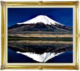 富士山(3) F20サイズ 【油絵 直筆仕上げ絵画】【キャンバス・額縁付】 油彩 風景画 オリジナルインテリア絵画 風水画 インテリアアート絵画 20号