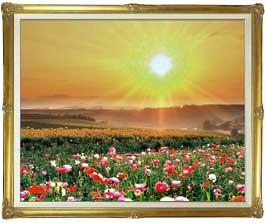 フラワーホープ  F30サイズ 【油絵 直筆仕上げ絵画】【額縁付】 油彩 風景画 オリジナルインテリア絵画 風水画 インテリアアート絵画 30号