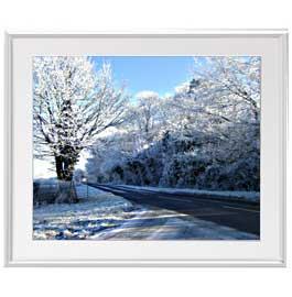 冬の樹木 アートフレーム:色シルバー サイズL 641×531mm 【油絵 直筆仕上げ絵画】【布キャンバス・額表面保護板】 油彩 風景画 オリジナルインテリア絵画 風水画