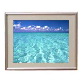 blue on blue アートフレーム:色シルバー サイズS 310×260mm 【油絵 直筆仕上げ絵画】【布キャンバス・額表面保護板】 油彩 風景画 オリジナルインテリア絵画 風水画
