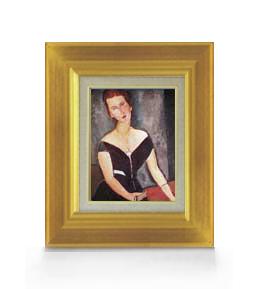 モディリアーニ ヴァン・ムイデン夫人の肖像 F0サイズ 【油絵 直筆仕上げ 複製画】【額縁付】 絵画 販売 油彩 人物画 316×271mm 送料無料