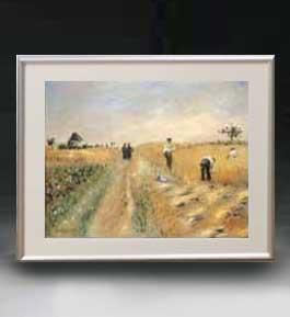 ルノワール The Harvesters アートフレーム サイズM 【油絵 直筆仕上げ 複製画】【油彩 布キャンバス 国内生産】 絵画 販売 風景画 511×418mm 送料無料 (ルノアール)