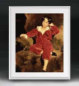 トーマス・ローレンス ランプトン少年像 アートフレーム サイズL 【油絵 直筆仕上げ 複製画】【油彩 布キャンバス 国内生産】 絵画 販売 人物画 641×531mm 送料無料