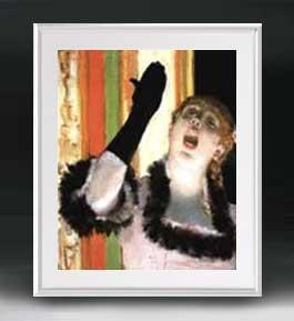 エドガー・ドガ カフェの歌い手 アートフレーム サイズL 【油絵 直筆仕上げ 複製画】【油彩 布キャンバス 国内生産】 絵画 販売 人物画 641×531mm 送料無料