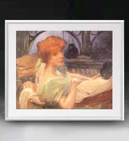 アルベール・ベナール Portrait of Madame Georges Rodenbach アートフレーム サイズL 【油絵 直筆仕上げ 複製画】【油彩 布キャンバス 国内生産】 絵画 販売 人物画 641×531mm 送料無料