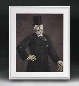 マネ アントナン・ブルーストの肖像 アートフレーム サイズL 【油絵 直筆仕上げ 複製画】【油彩 布キャンバス 国内生産】 絵画 販売 人物画 641×531mm 送料無料