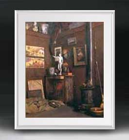 カイユボット アトリエのインテリア アートフレーム サイズL 【油絵 直筆仕上げ 複製画】【油彩 布キャンバス 国内生産】 絵画 販売 風景画 641×531mm 送料無料