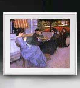カイユボット 郊外の風景 アートフレーム サイズL 【油絵 直筆仕上げ 複製画】【油彩 布キャンバス 国内生産】 絵画 販売 人物画 641×531mm 送料無料