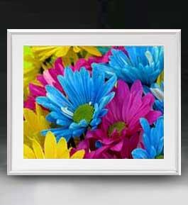 Flowers フラワーズ ♯018 アートフレーム サイズL 【油絵 直筆仕上げ】【油彩 布キャンバス 国内生産】 花の絵 静物画 641×531mm インテリアアート 送料無料