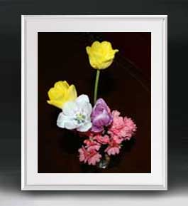 Flowers フラワーズ ♯056 アートフレーム サイズL 【油絵 直筆仕上げ】【油彩 布キャンバス 国内生産】 花の絵 静物画 641×531mm インテリアアート 送料無料