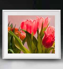 Flowers フラワーズ ♯059 アートフレーム サイズL 【油絵 直筆仕上げ】【油彩 布キャンバス 国内生産】 花の絵 静物画 641×531mm インテリアアート 送料無料