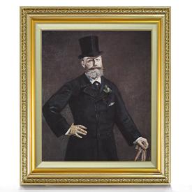 マネ アントナン・ブルーストの肖像 F8 【油絵 直筆仕上げ 複製画】【額縁付】 絵画 販売 8号 油彩 人物画 598×524mm 送料無料