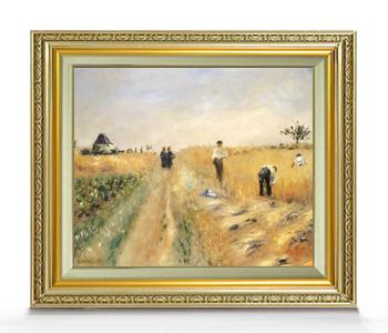 ルノワール The Harvesters F8  【油絵 直筆仕上げ 複製画】【額縁付】 絵画 販売 8号 油彩 風景画 598×524mm 送料無料