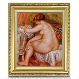 ルノワール 座る裸婦(2) F8 【油絵 直筆仕上げ 複製画】【額縁付】 絵画 販売 8号 油彩 人物画 598×524mm 送料無料