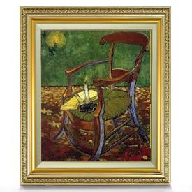 ゴッホ ゴーギャンの肘掛け椅子 F8 【油絵 直筆仕上げ 複製画】【額縁付】 絵画 販売 8号 油彩 静物画 598×524mm 送料無料