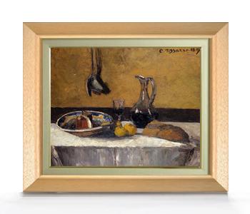 ピサロ Still Life F6  【油絵 直筆仕上げ 複製画】【額縁付】 絵画 販売  6号 油彩 静物画 556×465mm 送料無料