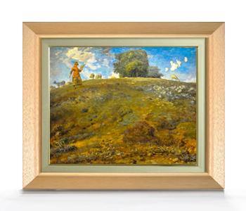 ミレー オーヴェルニュにて F6  【油絵 直筆仕上げ 複製画】【額縁付】 絵画 販売  6号 油彩 風景画 556×465mm 送料無料