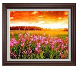 自然の誉 F15サイズ 【油絵 直筆仕上げ】【額縁付】 油彩 風景画 オリジナルインテリア絵画 風水画 ブラウン額縁 812×690mm 送料無料