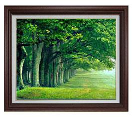 【60%OFF】 the green woods F15サイズ【油絵 直筆仕上げ 送料無料 green】【額縁付【油絵】 油彩 風景画 オリジナルインテリア絵画 風水画 ブラウン額縁 812×690mm 送料無料, 里山人:29f108c2 --- business.personalco5.dominiotemporario.com