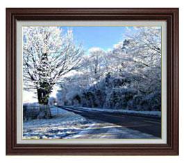 冬の樹木 F15サイズ 【油絵 直筆仕上げ】【額縁付】 油彩 風景画 オリジナルインテリア絵画 風水画 ブラウン額縁 812×690mm 送料無料