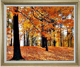 秋の情景 F30サイズ 【油絵 直筆仕上げ】【額縁付】 油彩 風景画 オリジナルインテリア絵画 風水画 ゴールド額縁 1070×887mm 送料無料