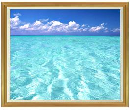 blue on blue  F50サイズ 【油絵 直筆仕上げ絵画】【額縁付】 油彩 風景画 インテリア絵画 風水画 インテリアアート絵画 1303mm×1046mm 50号