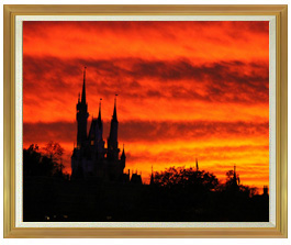 castle of sunset  F50サイズ 【油絵 直筆仕上げ絵画】【額縁付】 油彩 風景画 インテリア絵画 風水画 インテリアアート絵画 1303mm×1046mm 50号