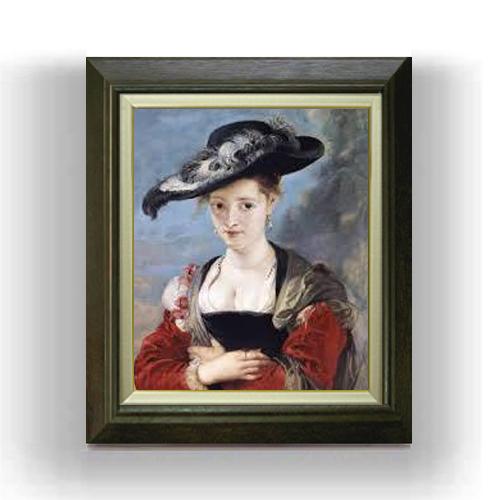 【送料無料】【油絵 直筆仕上げ】【インテリア 壁掛 プレゼント 贈り物】 ルーベンス シュザンヌ・フールマンの肖像 F8 【油絵 直筆仕上げ 複製画】【額縁付】 絵画 販売 8号 油彩 人物画 600×526mm 送料無料