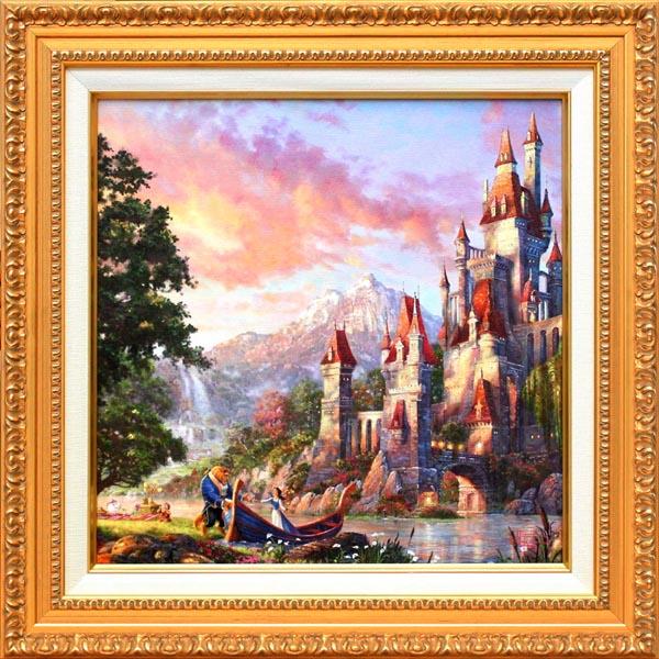 ディズニー/トーマス・キンケード「美女と野獣2」展示用フック付 キャンバスジークレ【インテリア】【アート】【Disney】【絵画インテリア】