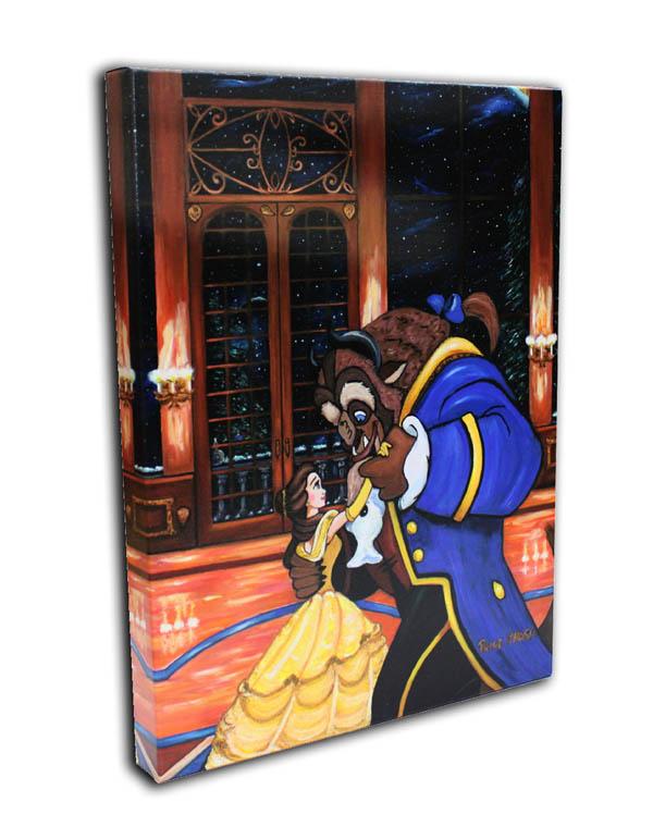 ディズニー/美女と野獣「ファーストダンス」作品証明書・展示用フック付 限定1500部キャンバスジークレ【インテリア】【アート】【Disney】【絵画インテリア】
